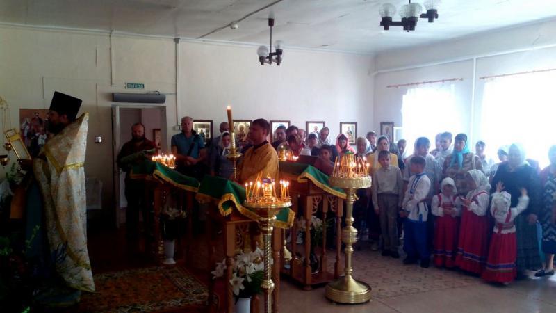 Божественная литургия в день освящения Закладного Камня для нового храма в селе Салтановка